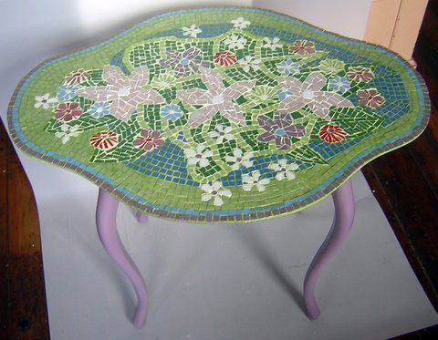Mosaic: Flower End Table